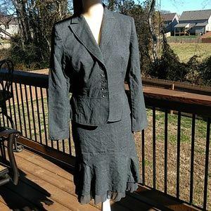 Petite Sophisticate 2-Piece Charcoal Suit